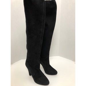 MICHAEL KORS COLLECTION Over The Knee Boots Black